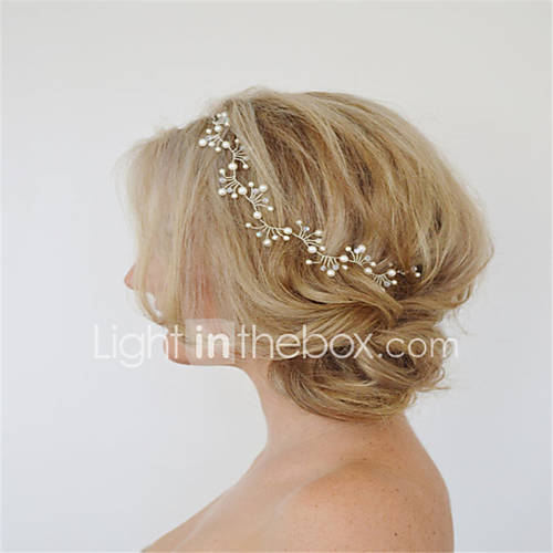 Europe and the United States foreign trade jewelry fashion han edition hair by hand Leafy sweet pearl hair hairpin A0113