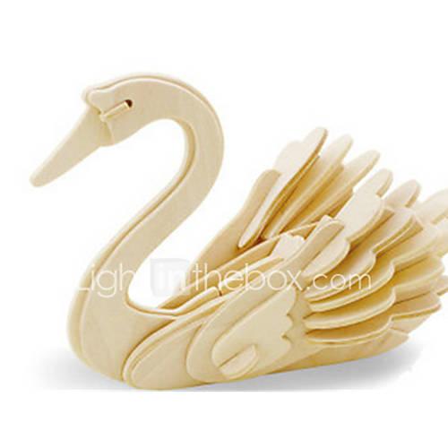 Jigsaw Puzzles DIY KIT 3D Puzzles Building Blocks DIY Toys Swan Animal Wooden