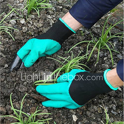 Garden Genies Gloves with Fingertips Claws Quick Easy to Dig and Plant Safe for Rose Pruning Gloves Mittens Digging Gloves