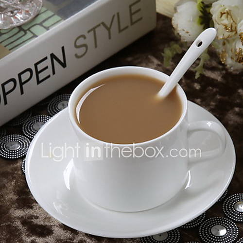 Hotel Continental American Ceramic Coffee Cup White Porcelain Coffee Cup