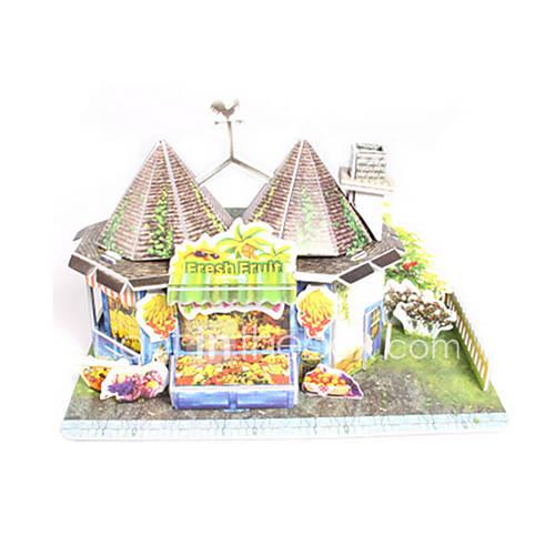 Jigsaw Puzzles DIY KIT 3D Puzzles Building Blocks DIY Toys Architecture Friut High Quality Paper