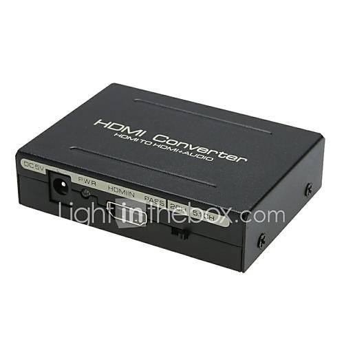 HDMI to HDMI Optical SPDIF RCA L/R Converter Splitter 1080p Audio Splitte HDMI Converter Adapter for HDTV