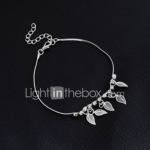 Women's Girls' Anklet / Bracelet Alloy Vintage Bohemian Handmade Fashion Gothic Punk Barefoot Sandals Leaf Jewelry For Christmas Wedding