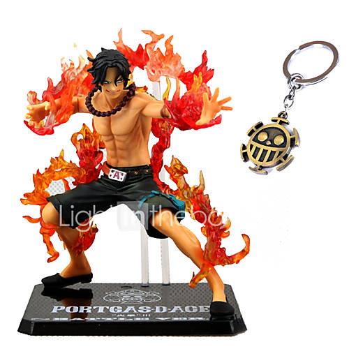 One Piece Ace Battle 13CM PVC Anime Action Figures Model Toys Doll Toy 2PCS