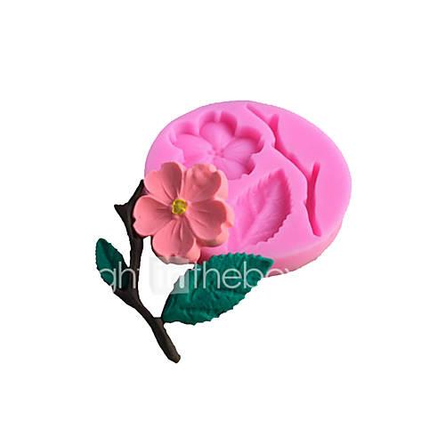1pcs   Peach Blossom Shapes 3D DIY Silicone Cake Mold Sugar Fondant Chocolate Mold