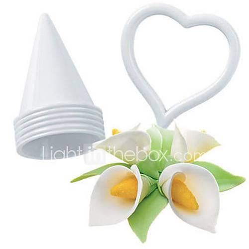 7Pcs/Set  Icing Fondant Cake Decorating Calla Lily Flower Cookie Cutter Mold Diy Set Bakeware Tools
