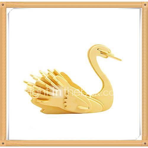 Jigsaw Puzzles 3D Puzzles Building Blocks DIY Toys Swan Wooden