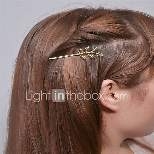 Europe and the United States foreign trade fashion simple hair accessories Personality joker hair clips Leaf edge hairpin A0307-0308