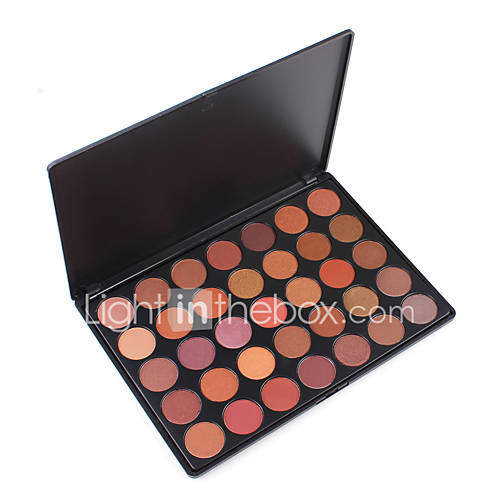 35T Cosmetic Metalic Eyeshadow Palette Taupe Neutral Matte Shimmer Easy Pigment Eyes Makeup Kit Gorgeous Nudes Shades Set