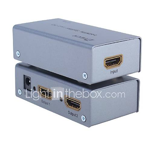 DTech HDMI 1.4 Splitter HDMI 1.4 to HDMI 1.4 Splitter Female - Female One Input Two Output