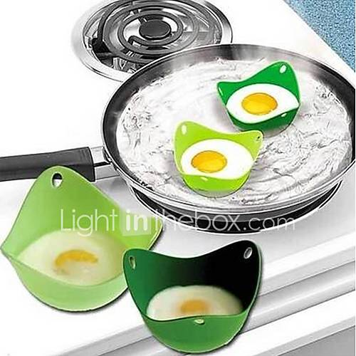 2 Pcs Eggcellent Poacher Colorful Non-stick Silicone Egg Cookware Pod Cup