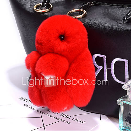 Bag / Phone / Keychain Charm Rabbit Cartoon Toy Rex Rabbit Fur 14CM
