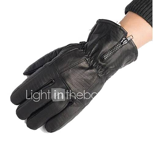 Motorcycle Gloves Leather Gloves Men Winter Sheepskin Thickening Finger Gloves