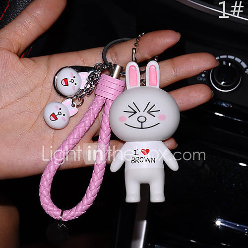 Line Dolls Bag / Phone / Keychain Charm Cute Jingle Bell Cartoon Toy Phone Strap PVC