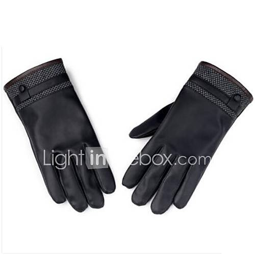 Motorcycle Gloves Autumn And Winter PU Leather Plus Cashmere Gloves Ride Cycling Motorcycle Warm Winter