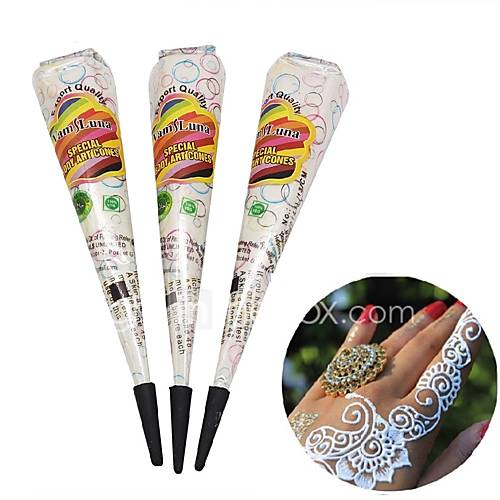 12X Natural Henna Temporary Tattoo Ink Brown Color- India Mehendi Ink For Body Art Painting for Men  Women