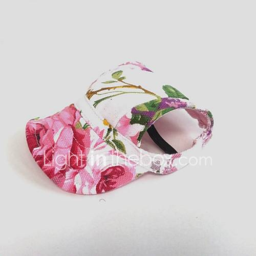 Cat Dog Hair Accessories Bandanas  Hats Dog Clothes Floral/Botanical Pink Canvas Costume For Pets Party Casual/Daily Cowboy Sports
