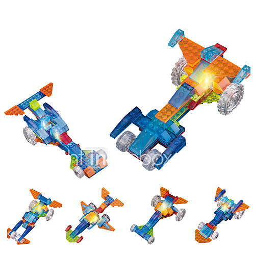 LED Lighting Building Blocks Educational Toy Toy Cars Race Car Toys Novelty Not Specified Pieces