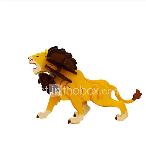 Jigsaw Puzzles DIY KIT 3D Puzzles Building Blocks DIY Toys Lion Wooden