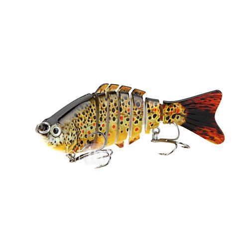 Fishing Wobblers Lifelike Lure 7 Segment Swimbait Crankbait Hard Bait Slow 10cm 15.5g Artificial Lure Tackle