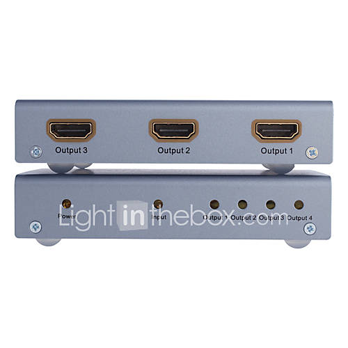 DTech HDMI 1.4 Splitter HDMI 1.4 to HDMI 1.4 Splitter Female - Female One Input Four Output