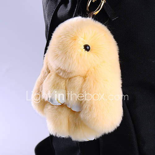 Bag / Phone / Keychain Charm Cartoon Toy Rex Rabbit Fur Cell Phone Charms