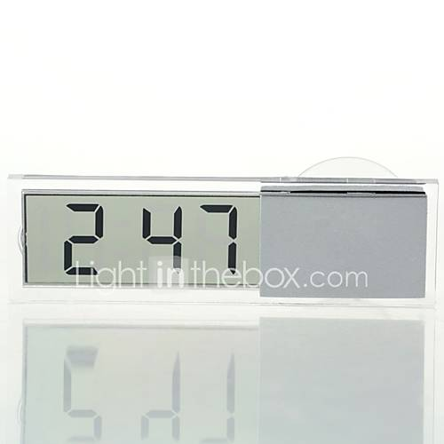 ZIQIAO Car Electronic Clock Liquid Crystal Display LCD Car Timer Digital Clock with Suction Cup