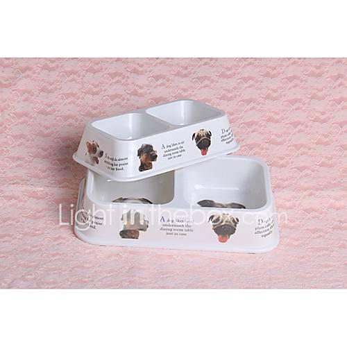 Dog Bowls  Water Bottles Pet Bowls  Feeding Durable White