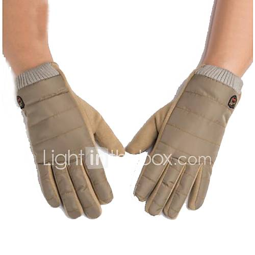 Motorcycle Gloves  Warm Thick Plus Velvet Ride Driving Gloves Touch Screen Sub - Finger Section
