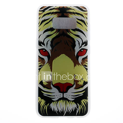 Case For Samsung Galaxy S8 S8 Plus Case Cover Tiger Head Pattern 3D Relief Milk TPU Material Phone Case For Galaxy S7 S7 Edge S6 S6 Edge