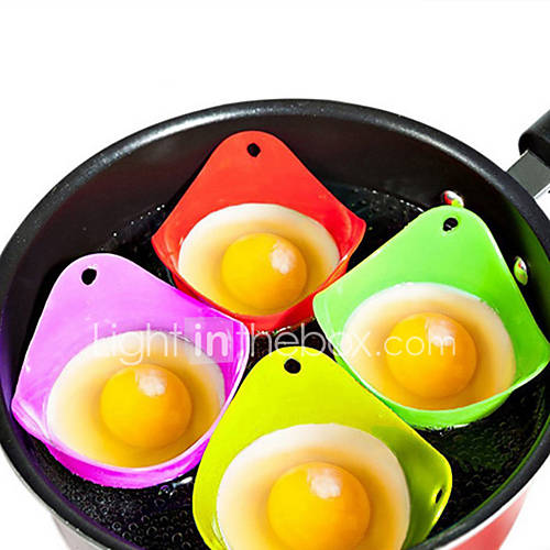 1PCS Silicone Eco-friendly Egg Poacher Boiler Heat Resistant Poaching Pods Pan Mould Baking Cup Kitchen Cooking Tool Cookware Gadget Bakeware Utensils
