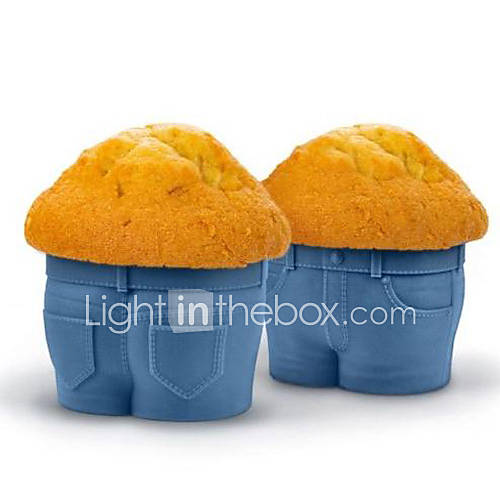 Jeans Muffin Cup Cake Silicone Chocolate Mold Bakeware Kitchen 1pc Baking Cup