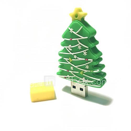 64GB Christmas USB Flash Drive Cartoon Creative Christmas Tree Christmas Gift USB 2.0