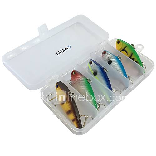 "5 pcs Fishing Lures Hard Bait Pencil Vibration/VIB g / Ounce 55 mm / 2-1/4"" inch ABS Sea Fishing Fly Fishing Bait Casting Ice Fishing"