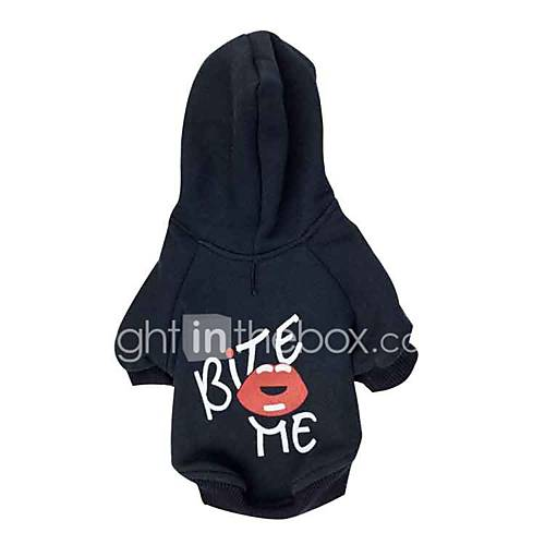 Dog Hoodie Dog Clothes Casual/Daily Love Black