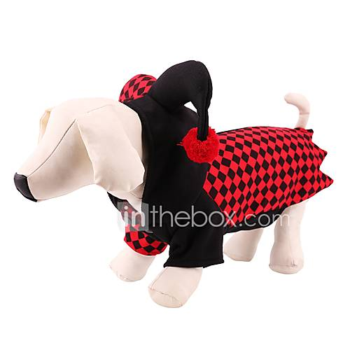 Dog Costume Coat Hoodie Sweatshirt Dog Clothes Party Cosplay Halloween Christmas New Year's Angel  Devil Red
