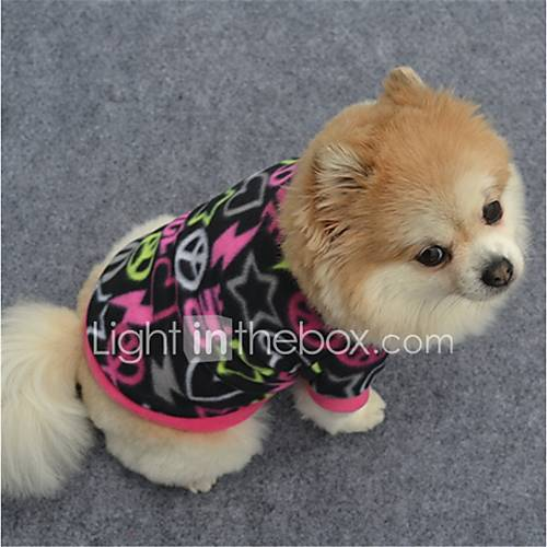 Dog Sweatshirt Dog Clothes Casual/Daily Geometic Fuchsia Purple Black