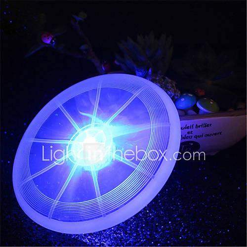 HKV 1Pcs 2W White Red Green Pink Blue Yellow Warm white RGB LED Luminous Cup Pad Pet Frisbee Lamp