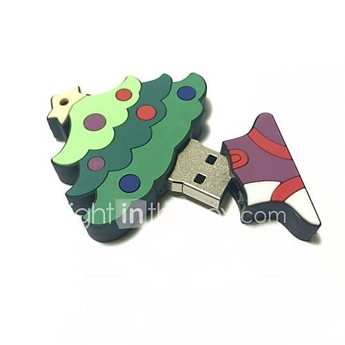 32GB Christmas USB Flash Drive Cartoon Christmas Tree Christmas Gift USB 2.0