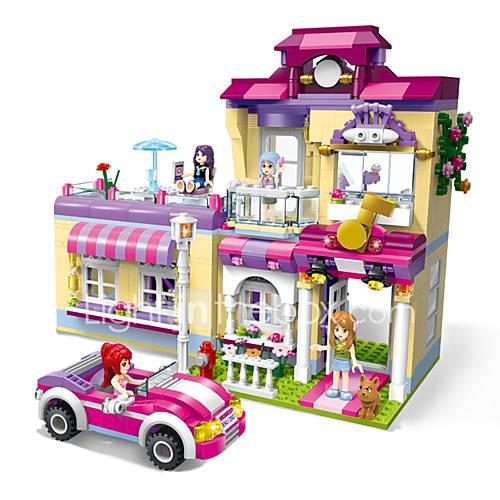 ENLIGHTEN Building Blocks Model Building Kits Toys House Training Center Superstar DIY Classic New Design Kids Adults' Girls' 734 Pieces