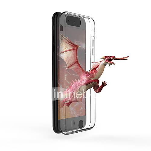 Case For Apple iPhone 7 Plus iPhone 6 Plus Ultra-thin Transparent Naked Eye 3D Back Cover Transparent Hard Tempered Glass for iPhone 7
