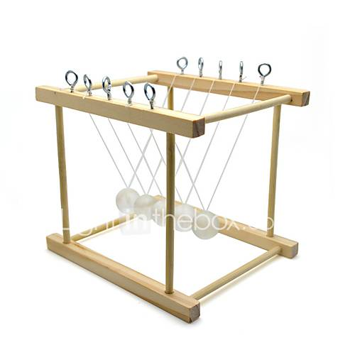 Newton Cradle Balance Balls Science  Discovery Toys Educational Toy Novelty Rectangle School Handmade Kids Classic Wood