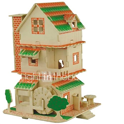 DIY KIT 3D Puzzles Jigsaw Puzzle Logic  Puzzle Toys Toys Castle Chinese Architecture Animals 3D Houses Fashion Kids Hot Sale Classic