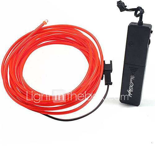YouOKLight 1W DC3V Red / Green / Blue 1.75 Miter 3 Modes Sound Control Flash Luminous EL LED Wire 1pcs
