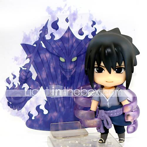Anime Action Figures Inspired by Naruto Sasuke Uchiha PVC 10 CM Model Toys Doll Toy