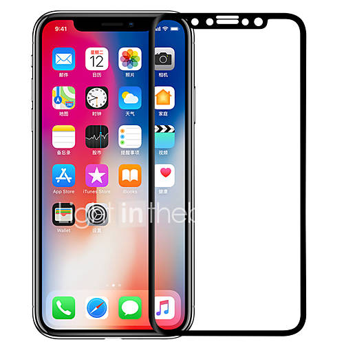 Screen Protector Apple for iPhone X Tempered Glass 1 pc Full Body Screen Protector 3D Curved edge Anti-Glare Anti-Fingerprint Scratch