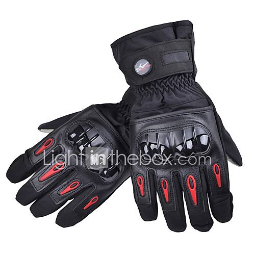 PRO-BIKER Sporty Full Finger Unisex Motorcycle Gloves Cycling Keep Warm Anti-Slip Rain-Proof Wearable