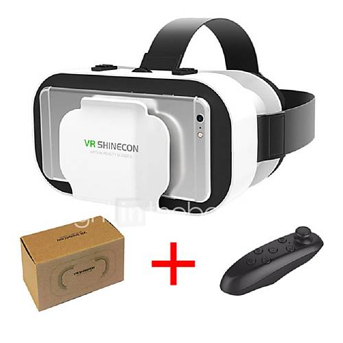 VR SHINECON 5.0 Glasses Virtual Reality VR Box 3D Glasses for 4.7 - 6.0 Inch Phone with Controller