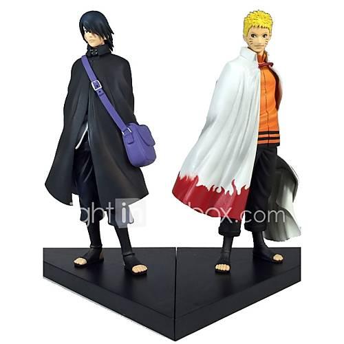 Anime Action Figures Inspired by Naruto Sasuke Uchiha PVC 18 CM Model Toys Doll Toy