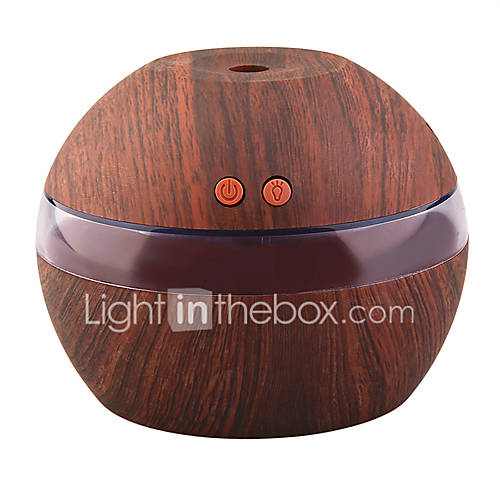 YK30S Mini Portable Mist Maker Aroma Essential Oil Diffuser Ultrasonic Aroma Humidifier Light Wooden USB Diffuser